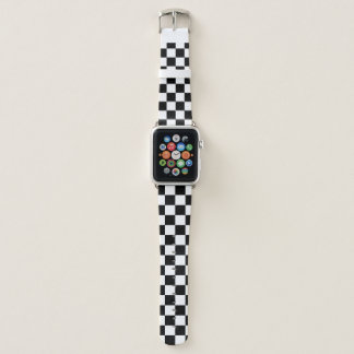 Black And White Checkered Pattern Apple Watchバンド