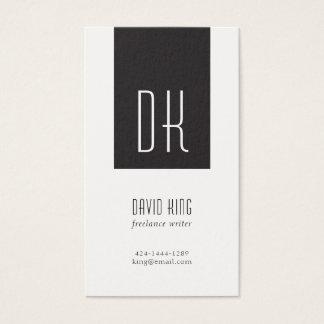 Black and White Monogram Business Card 名刺