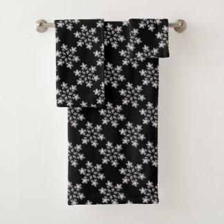 Black And White Snowflakes バスタオルセット