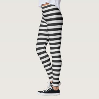 Black and white stripes leggings レギンス