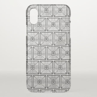 Black and White Tribal Pattern iPhone X ケース