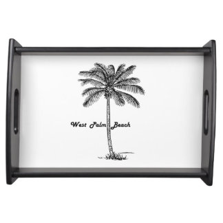 Black and white West Palm Beach & Palm design トレー