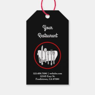 Black and White with Red Custom Restaurant Tag ギフトタグ