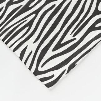 Black and White Zebra Print Fleece Blanket フリースブランケット