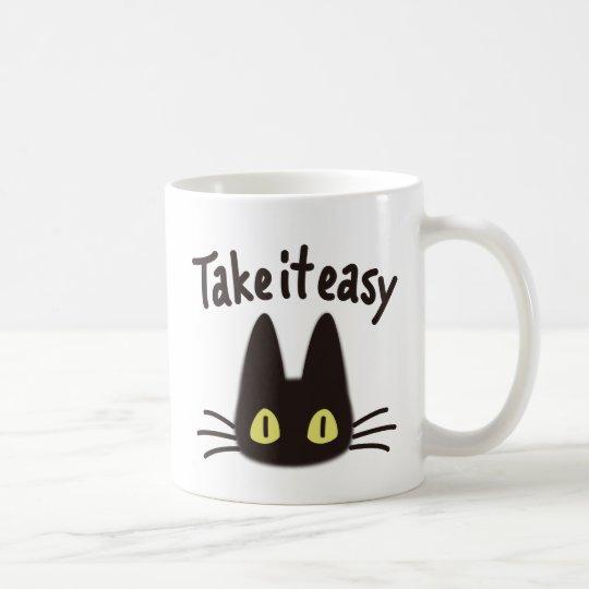 Black cat コーヒーマグカップ