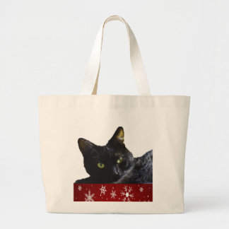 Black Cat Christmas Jumbo Tote Bag ラージトートバッグ