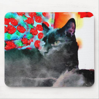 Black Cat Mouse Pad マウスパッド