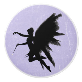 Black Fairy God Mother Purple or Lavender Knob セラミックノブ