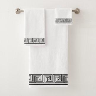 Black Grecian Frieze Design バスタオルセット