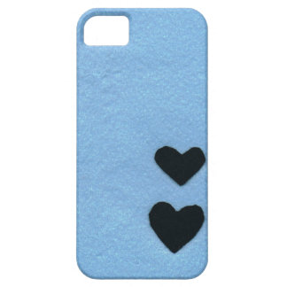 Black heart color of the sea area (felt wind) iPhone SE/5/5s ケース