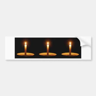Black.jpgに対する3本の蝋燭 バンパーステッカー