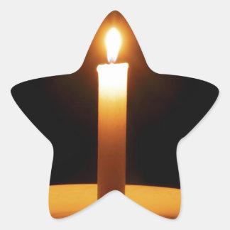 Black.jpgのLitの蝋燭 星形シールステッカー
