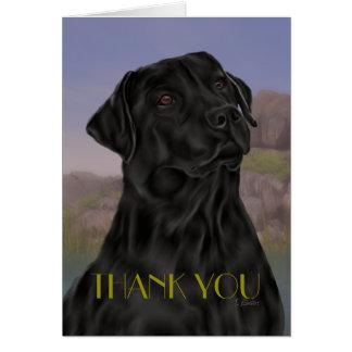 Black Labrador Retriever Thank you カード