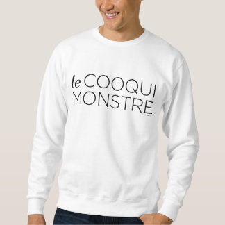 black le Cooqui Monstre スウェットシャツ