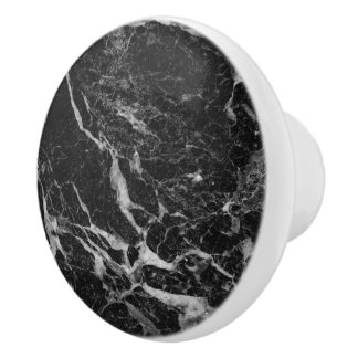 Black Marble Stone セラミックノブ