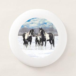 Black Paint Horses In Snow Wham-Oフリスビー
