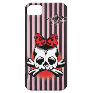 Black & Pink Dokuro-Chan iPhone SE/5/5s ケース