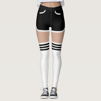 Black Retro Shorts OTK Tube Socks Leggings レギンス