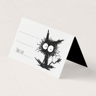 Black Unkempt Kitten GabiGabi プレイスカード