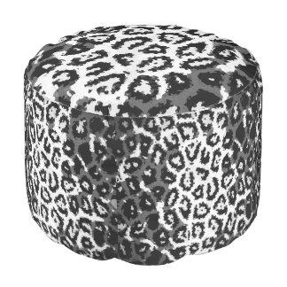 Black&Whiteのチータの抽象芸術パターン プーフ