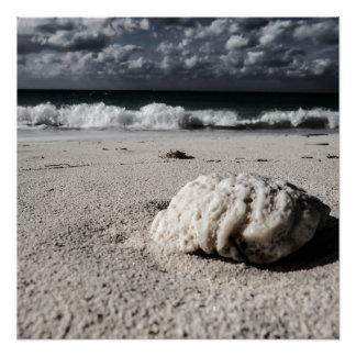 Black&Whiteのビーチ ポスター
