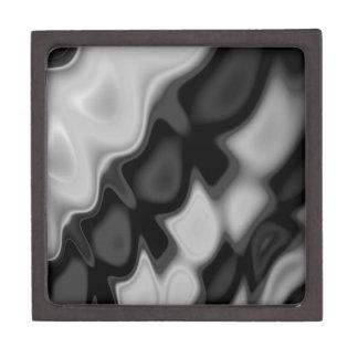 Black&Whiteの渦巻形のな抽象芸術 ギフトボックス
