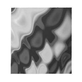 Black&Whiteの渦巻形のな抽象芸術 ノートパッド