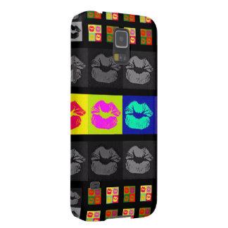 Black&Whiteの蛍光唇 Galaxy S5 ケース