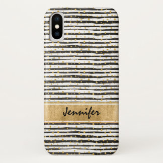 Black White Case-Mate Barely There iPhone X Case