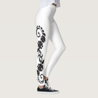 Black & White Ornamental Leggings レギンス
