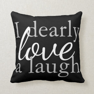 Black & White Throw Pillow Jane Austen Book Quote クッション