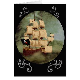 Blackbeardの船(アン女王の復讐)のメッセージカード カード