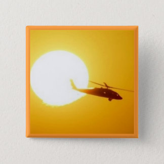 BLACKHAWKの日没 5.1CM 正方形バッジ