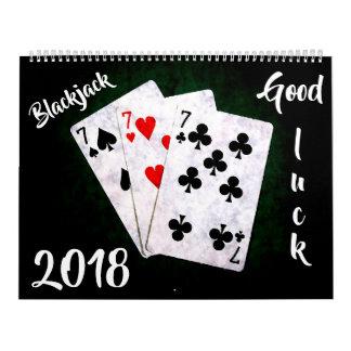 Blackjack - Good luck! customizable カレンダー
