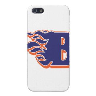 Blackmanの炎の青年フットボールおよびチアリーティング iPhone SE/5/5sケース