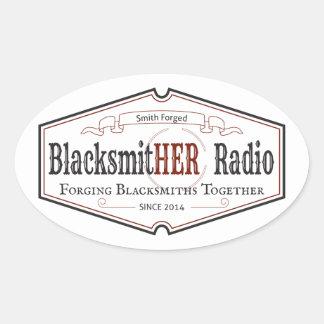 Blacksmitherの無線の楕円形のステッカー 楕円形シール