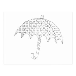 blackworkの傘 ポストカード