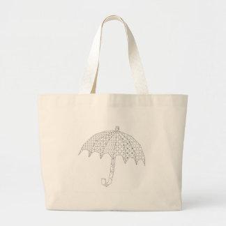 blackworkの傘 ラージトートバッグ