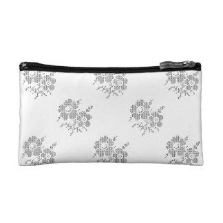 Blackworkの十字のステッチの小さい化粧品のバッグ コスメティックバッグ