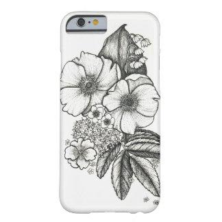 Blackworkの野生のバラの電話箱 Barely There iPhone 6 ケース