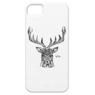 Blackworkの雄鹿のデザインの電話箱 iPhone SE/5/5s ケース
