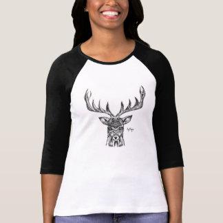 Blackworkの雄鹿のワイシャツ Tシャツ