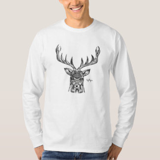 Blackworkの雄鹿の人のワイシャツ Tシャツ
