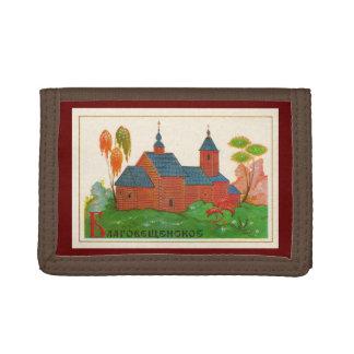 Blagoveshchenskoyeの木製のロシアのな教会 ナイロン三つ折りウォレット
