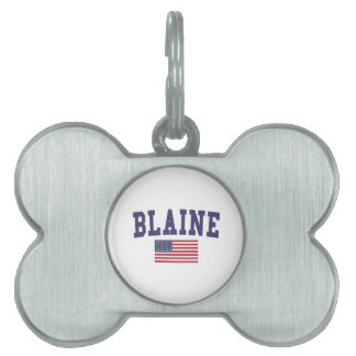 Blaine米国の旗 ペットネームタグ