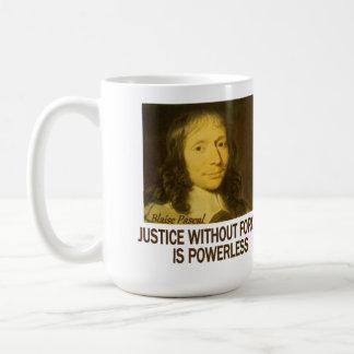 Blaise Pascal: 正義 コーヒーマグカップ