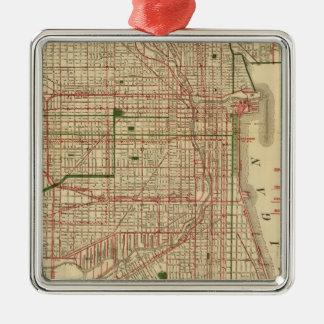 Blanchardのシカゴの地図 メタルオーナメント