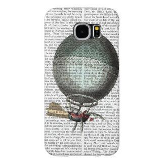 Blanchardのヴィンテージの熱気の気球 Samsung Galaxy S6 ケース