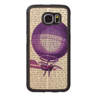 Blanchardsの水素の(紫色の)熱気の気球 ウッドケース