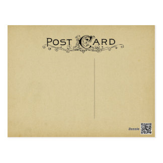 Blank Postcard Parchment Vintage Beige Background ポストカード